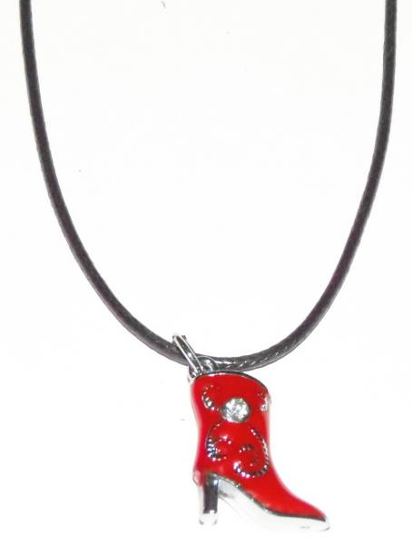 Collier botte rouge