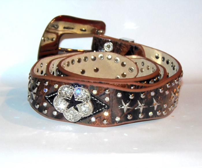 ceinture western usa marron