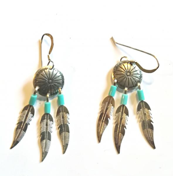 Boucle concho 3 plumes