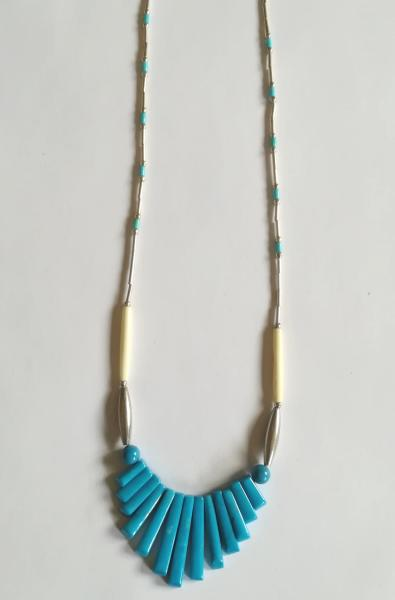 Collier perle turquoise